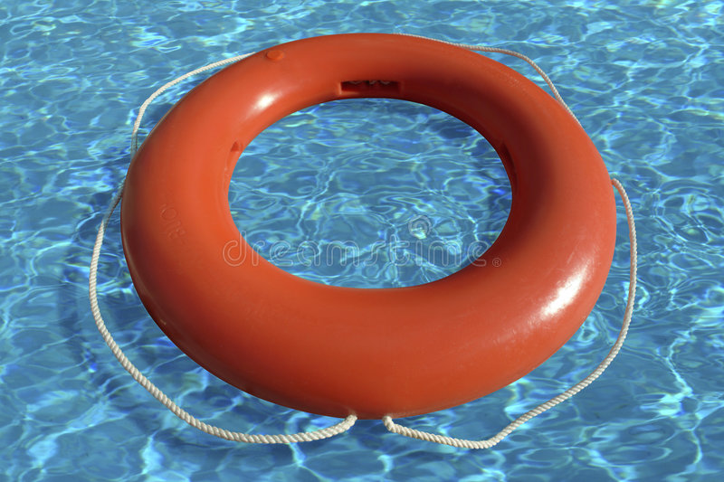 Life Ring Floating In Water Stock Photo Image Of