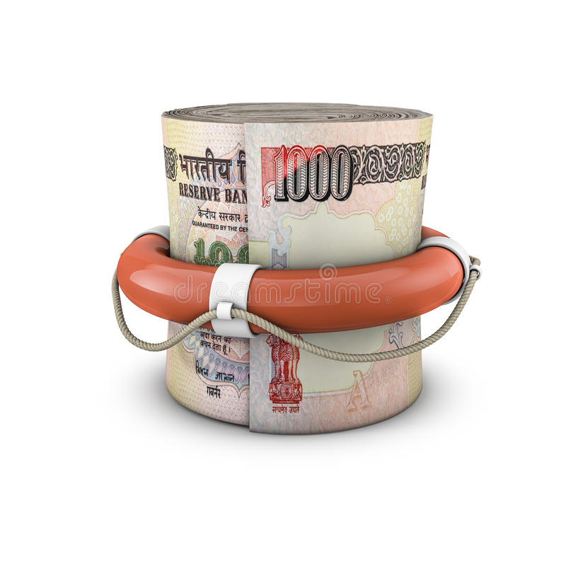 Download Life Ring Money Roll Rupees Stock Illustration - Image: 42081467