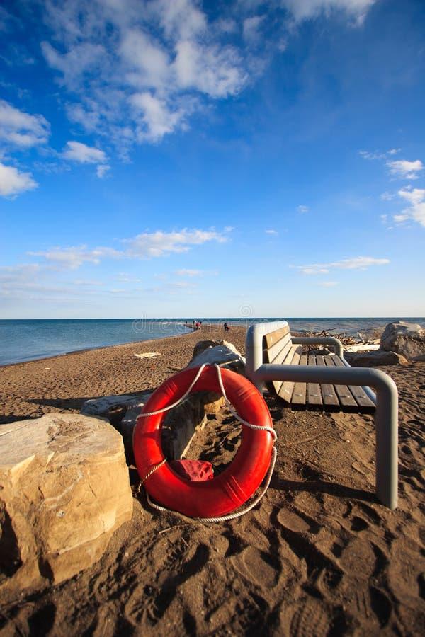 Life Saver on the Beach royalty free stock photo