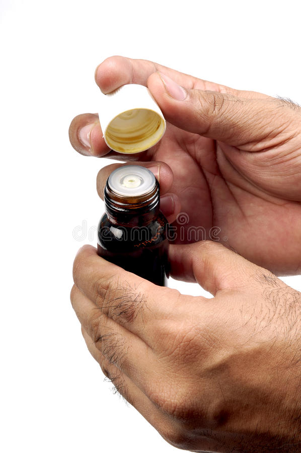 Life saving drug bottle royalty free stock image
