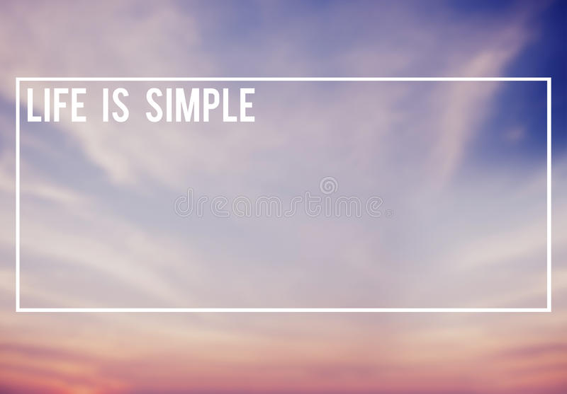 Life is Simple Lifestyle Happiness Concept royalty free illustration