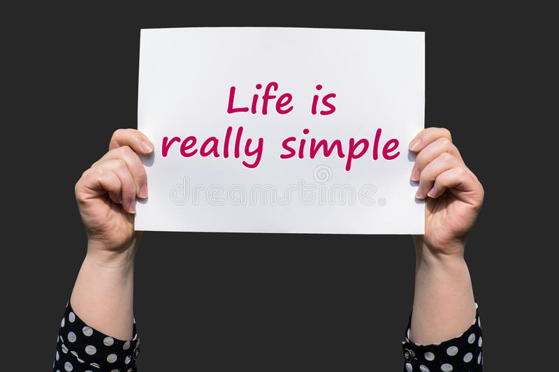 Life is really simple royalty free stock images