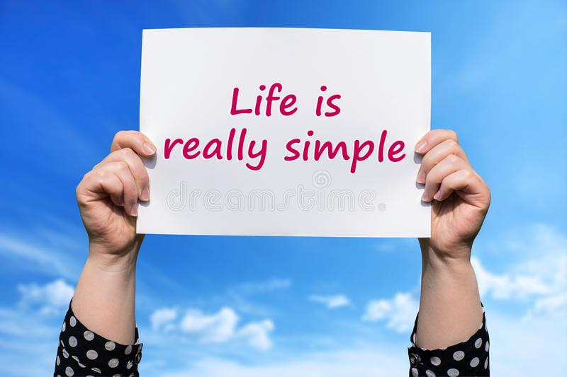 Life is really simple royalty free stock photography