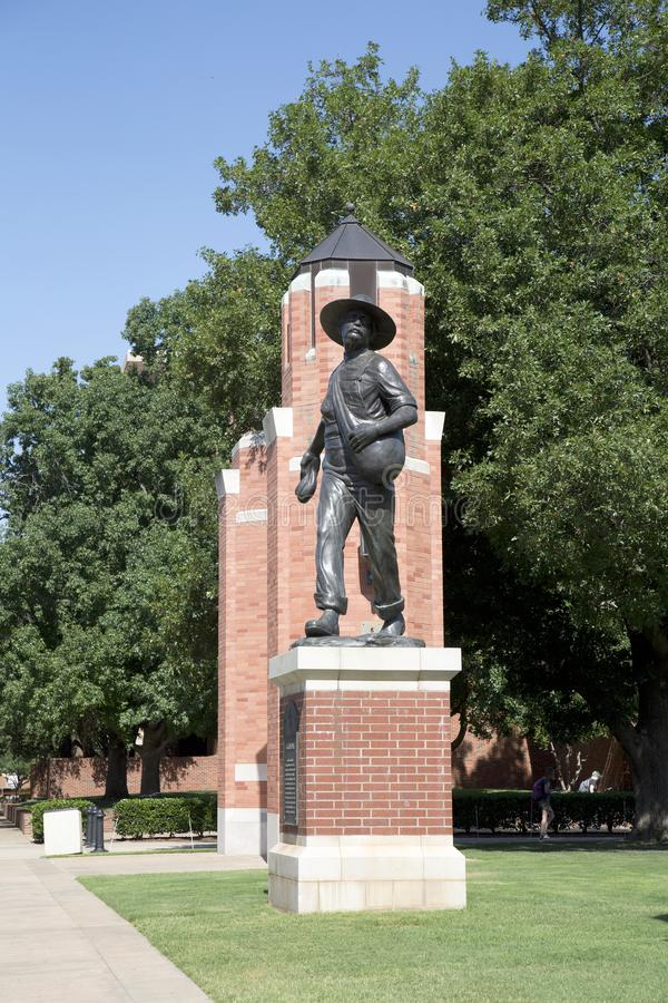 Sculpture of a Sower in University of Oklahoma USA stock image