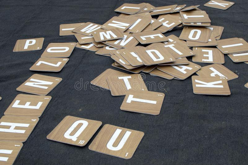 A scrabble letter tiles outdoor royalty free stock photography