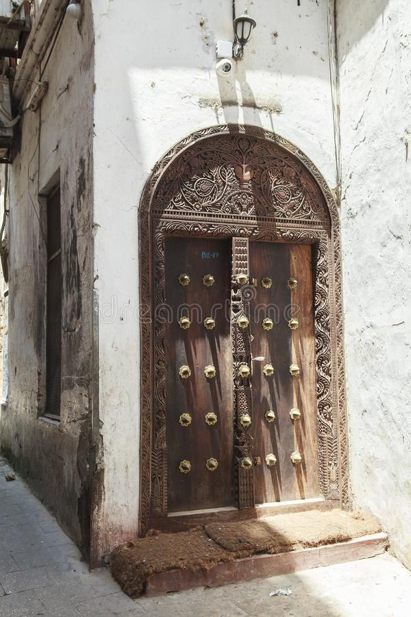 Life of Stone Town in Zanzibar Island, Tanzania. This picture is taken in Zanzibar island, Tanzania. Stone Town, also known as Mji Mkongwe Swahili for `old town royalty free stock photo