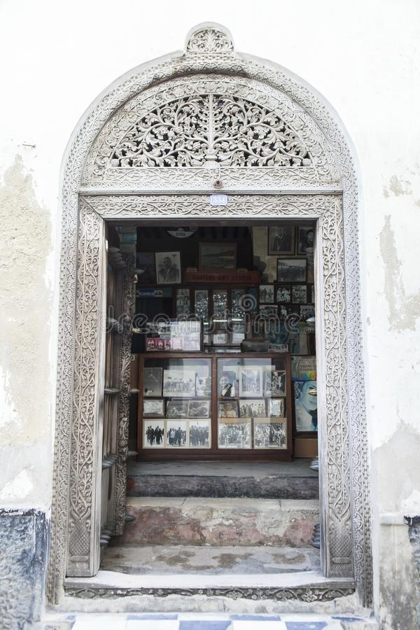 Life of Stone Town in Zanzibar Island, Tanzania. This picture is taken in Zanzibar island, Tanzania. Stone Town, also known as Mji Mkongwe Swahili for `old town stock image