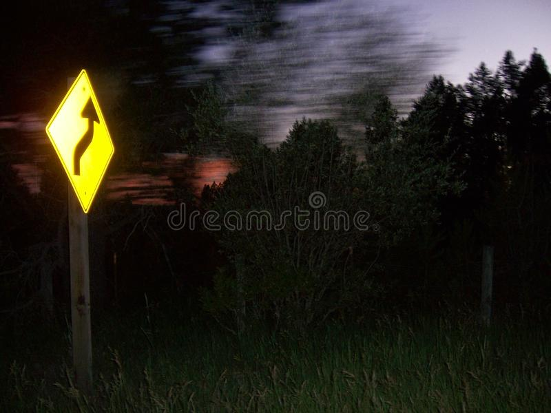 In life there are always curves ahead, slow down royalty free stock images