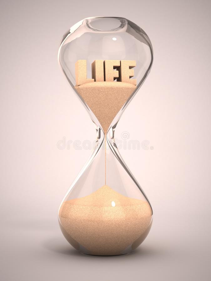 Life time passing concept stock illustration