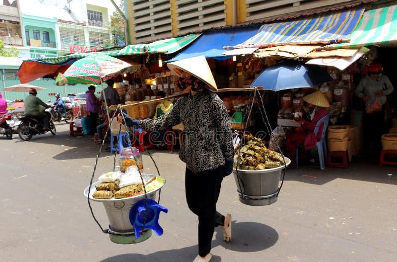 Life of vietnamese vendor Ho Chi Minh City royalty free stock images