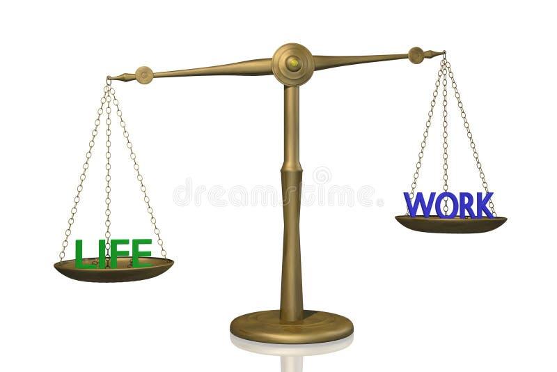 Download Life Work Balance stock illustration. Image of background - 13912101