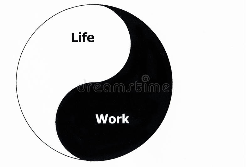 Life and Work balance royalty free stock images