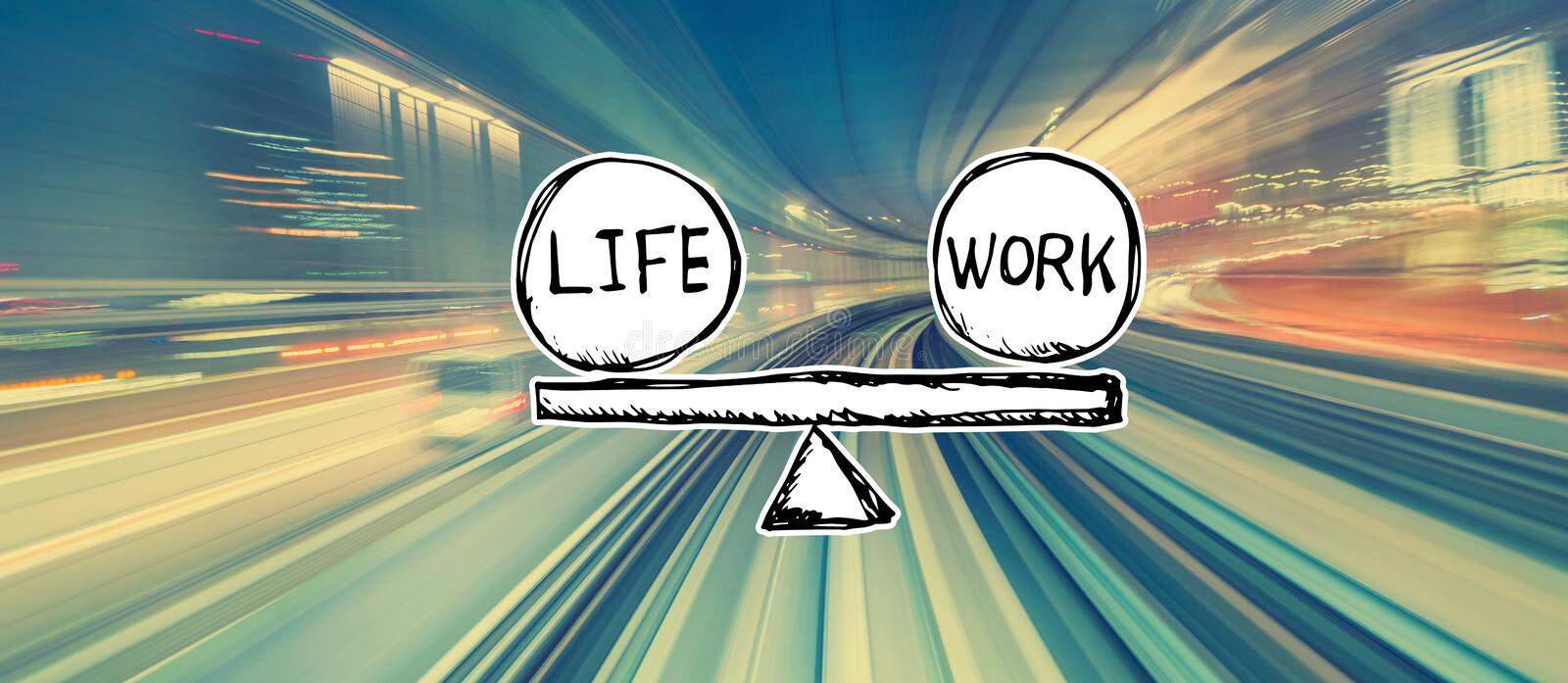 Life and work balance with high speed motion blur stock photos