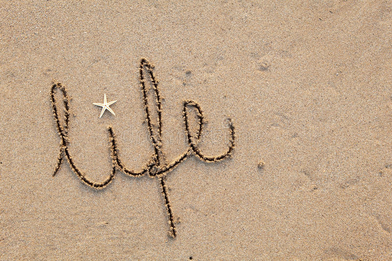 Life Written In Sand Royalty Free Stock Photos