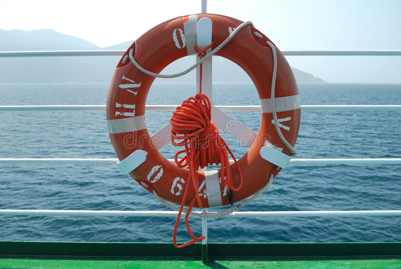 Download Lifebelt on deck stock photo. Image of line, ocean, deck - 5053702