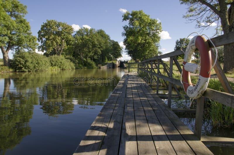 Lifebelt na Göta kanale obrazy stock