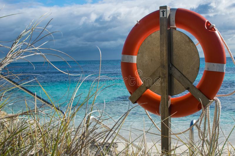 Lifebelt na plaży fotografia royalty free