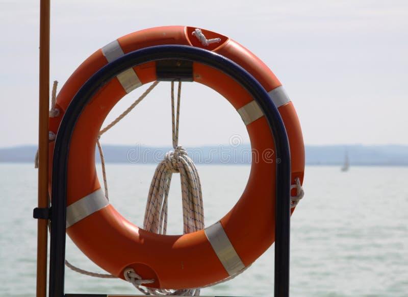 Lifebelt na pokładzie zdjęcia royalty free