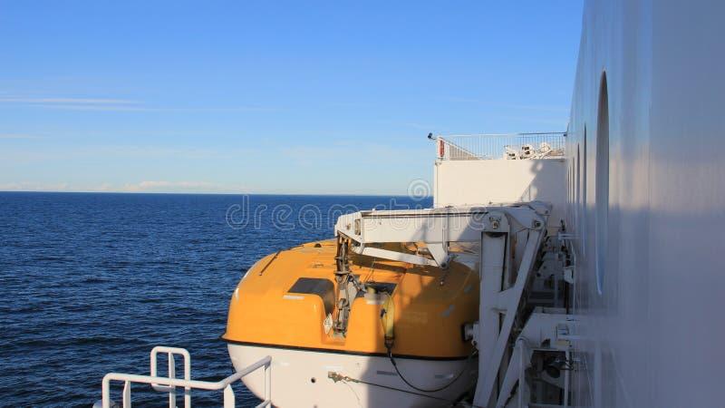 Lifeboat на пароме стоковое изображение rf