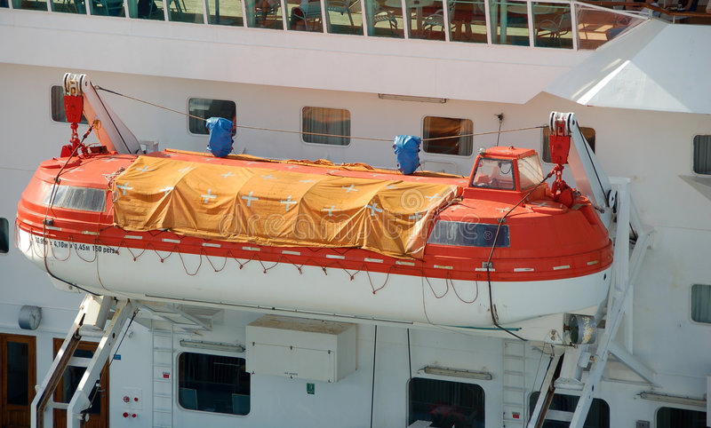 Download Lifeboat on cruise ship stock photo. Image of deck, ship - 2728562