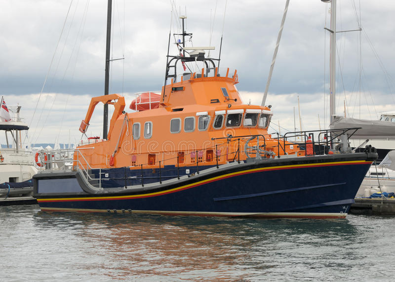 Lifeboat In Harbour Royalty Free Stock Photos