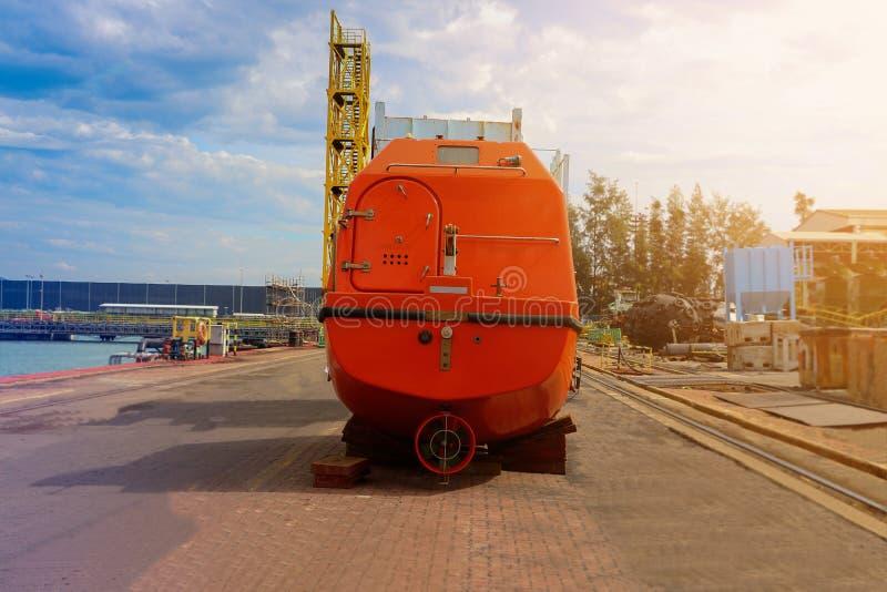 Lifeboat na podłoga fotografia royalty free