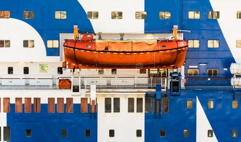 Lifeboat na statek wycieczkowy fotografia royalty free