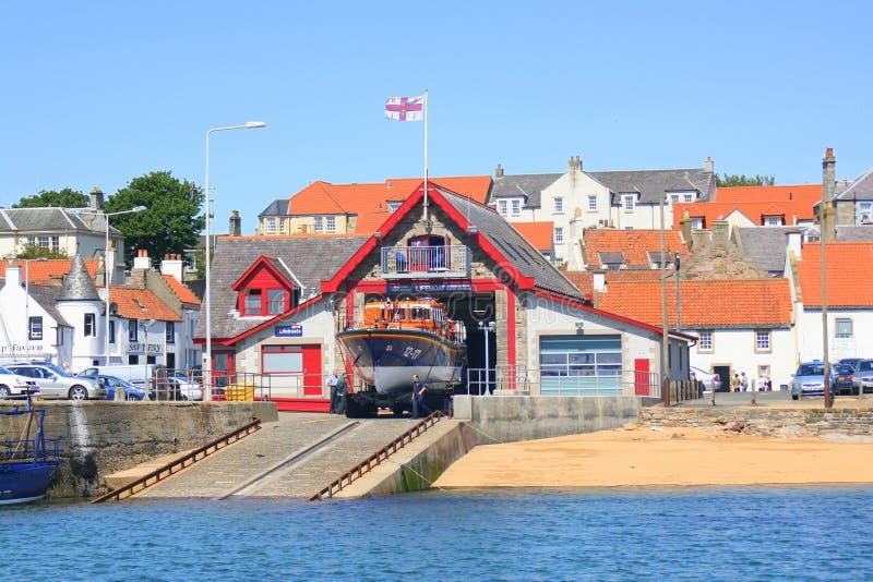 Lifeboat przy lifeboat stacją obrazy stock