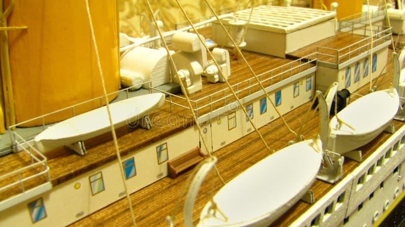 lifeboats rms палубы титанические стоковое фото