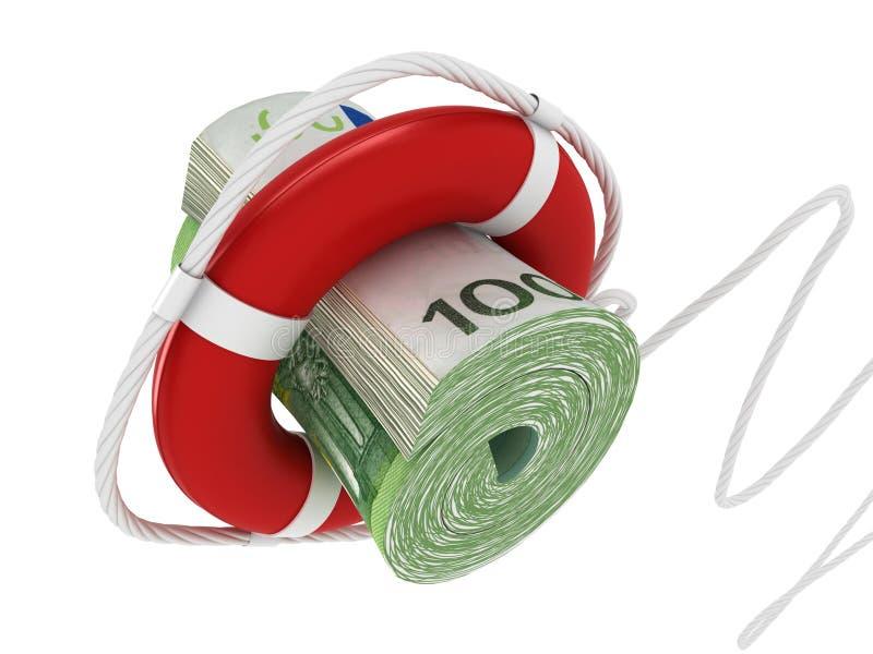 Lifebouy com euro ilustração royalty free