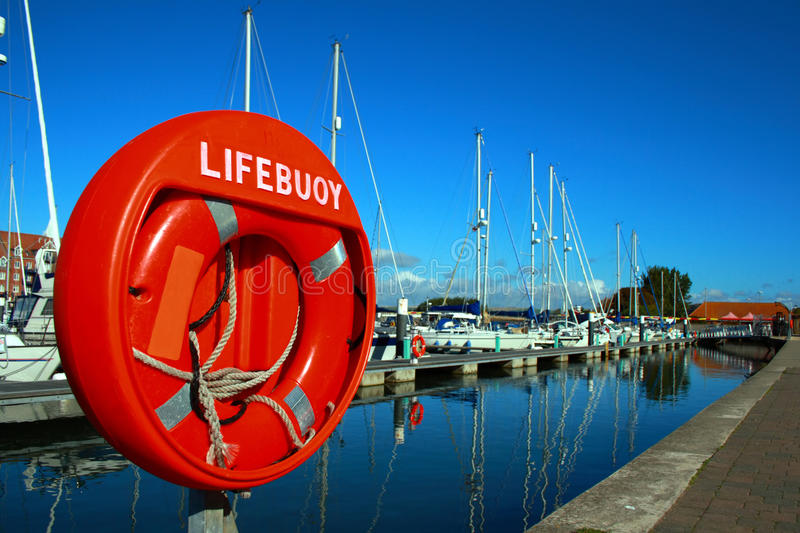Lifebouy On Weymouth Marina UK Royalty Free Stock Photo