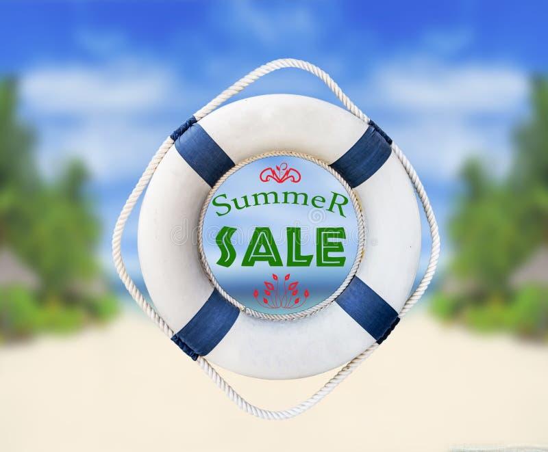 Lifebuoy和夏天销售 库存照片