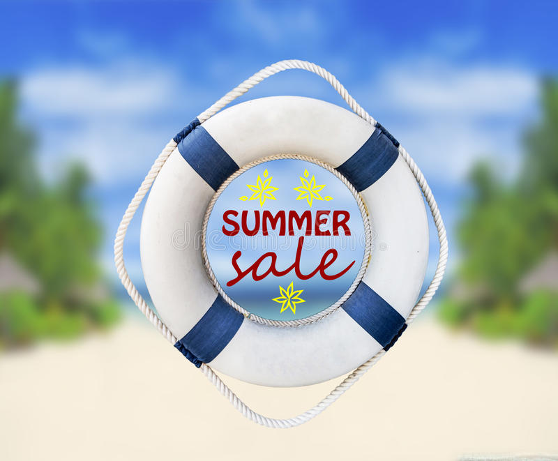 Lifebuoy和夏天销售 免版税库存照片
