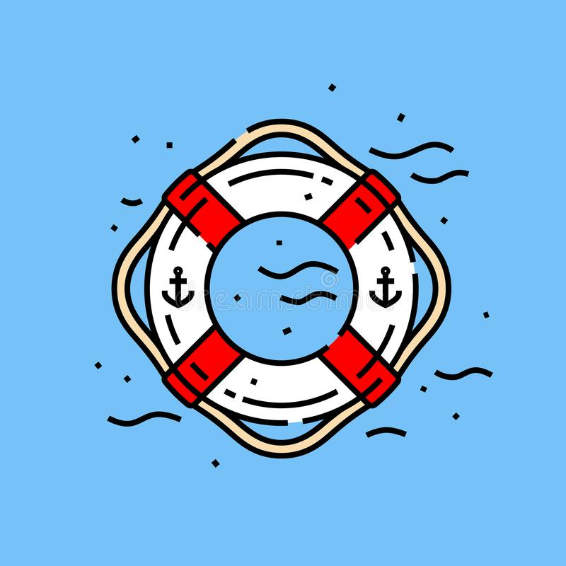 Lifebuoy圆环象 向量例证