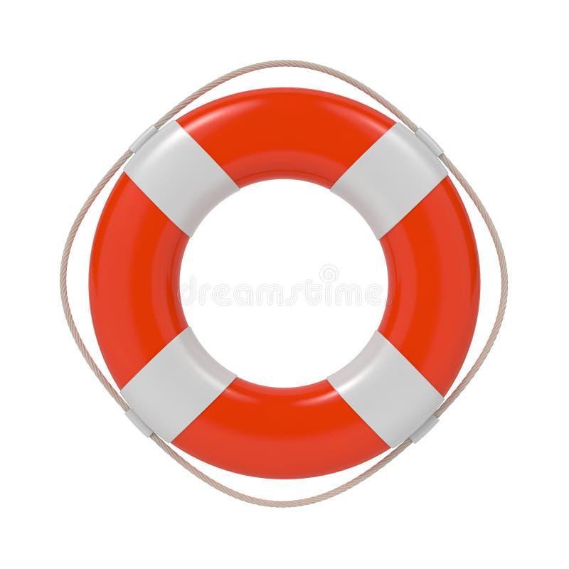 Lifebuoy在白色查出。 向量例证