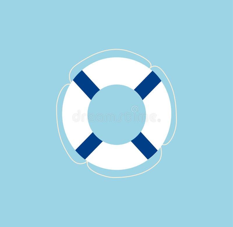 Lifebuoy在蓝色隔绝了 皇族释放例证