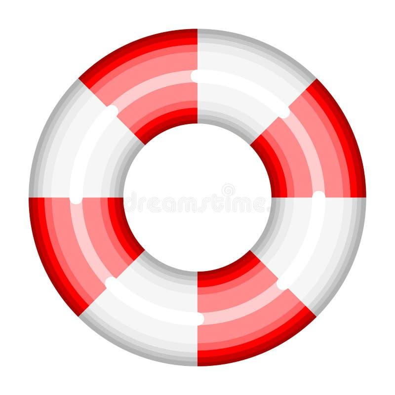 Lifebuoy帮助抢救救球船sos救生圈传染媒介游泳协助例证 库存例证