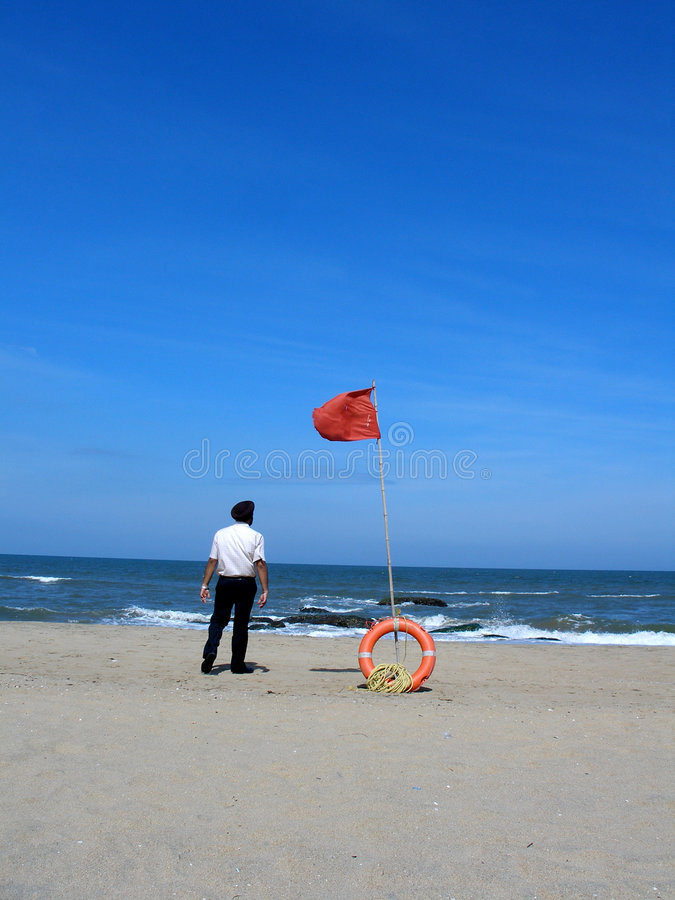 lifebuoy άτομο παραλιών στοκ φωτογραφία με δικαίωμα ελεύθερης χρήσης
