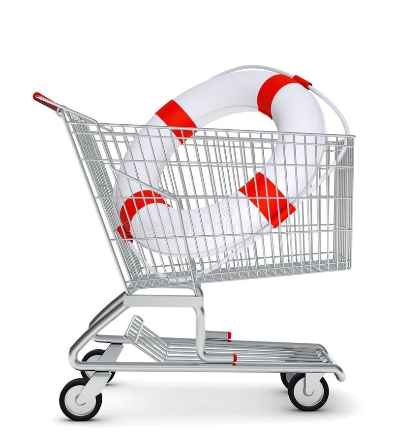 lifebuoy αγορές κάρρων διανυσματική απεικόνιση