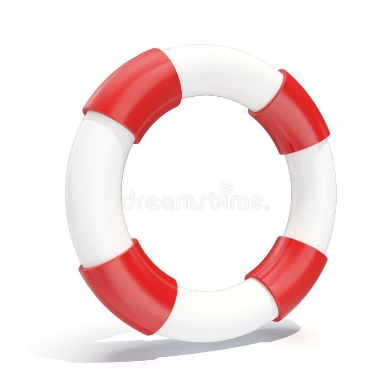 lifebuoy значка иллюстрации 3d изолированное на белой предпосылке иллюстрация вектора