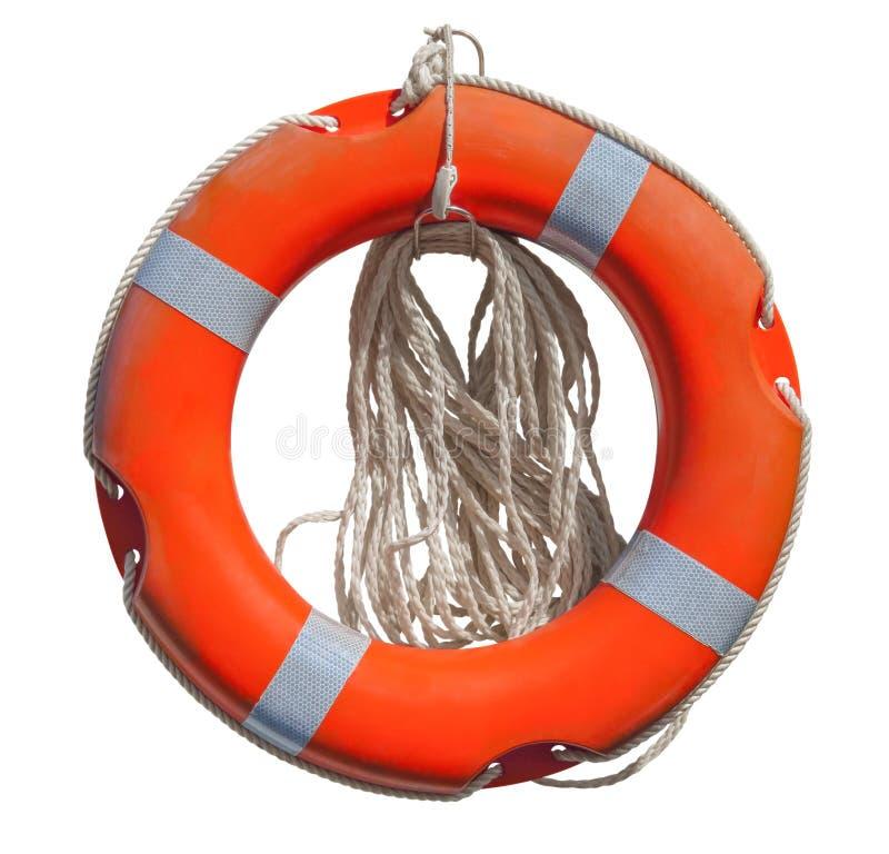 Lifebuoy изолировало на белизне стоковое изображение
