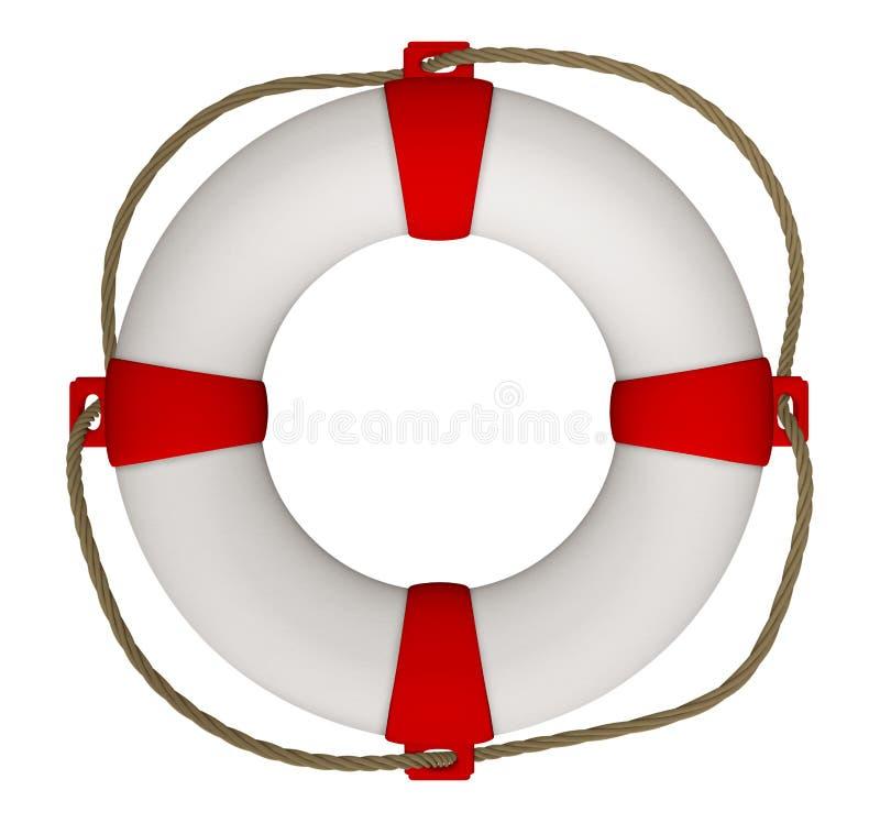 Lifebuoy с веревочкой стоковые фотографии rf