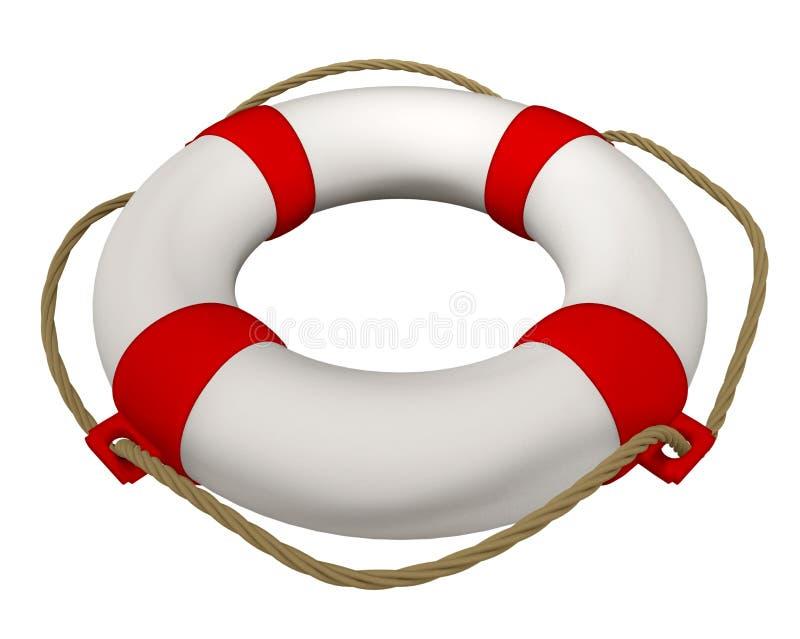 Lifebuoy с веревочкой иллюстрация штока