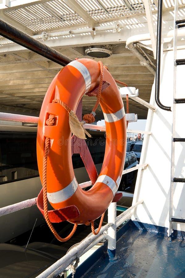 Lifebuoy. On board of the sea royalty free stock photos