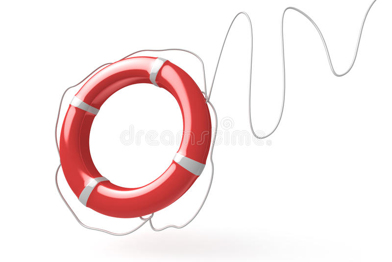 Lifebuoy royalty free illustration