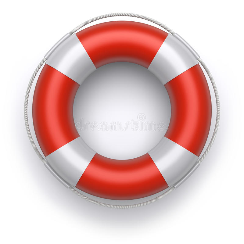 Download Lifebuoy stock illustration. Illustration of round, rope - 23138269