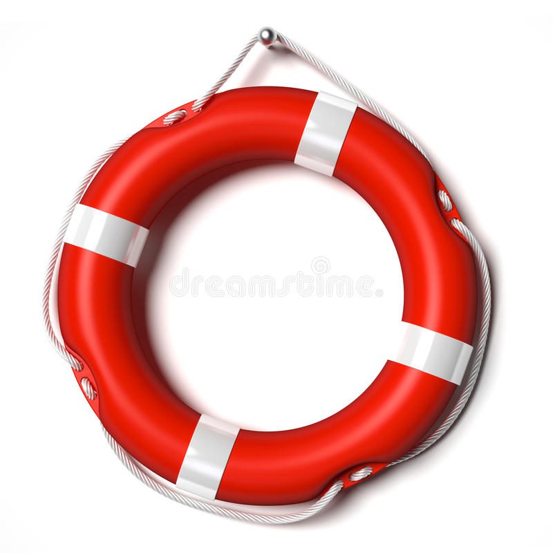 Lifebuoy. Hanging on a nail, ready to use royalty free illustration