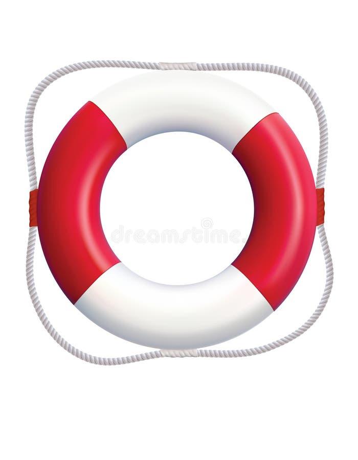 lifebuoy aislada en un fondo blanco Vector realista libre illustration