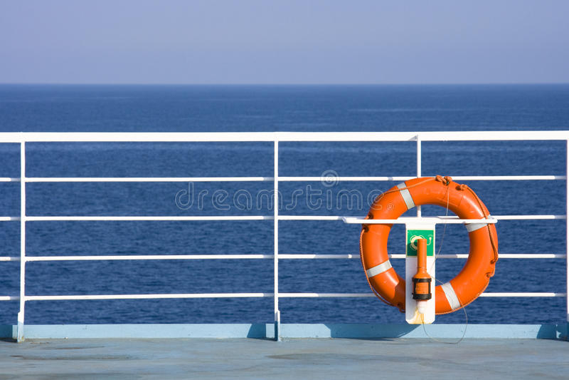 Lifebuoy auf Lieferung stockbilder