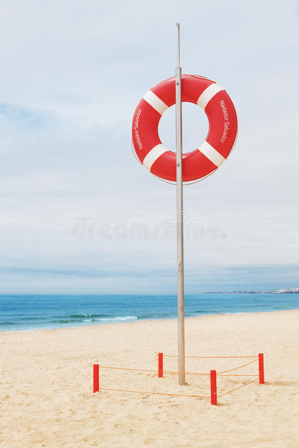 Download Lifebuoy On A Beach In Portugal. Stock Photos - Image: 24830843